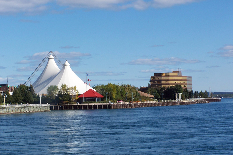 Sault Ste. Marie downtown waterfront